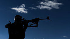 Антон Шипулин на VI этапе Кубка мира по биатлону. Архивное фото