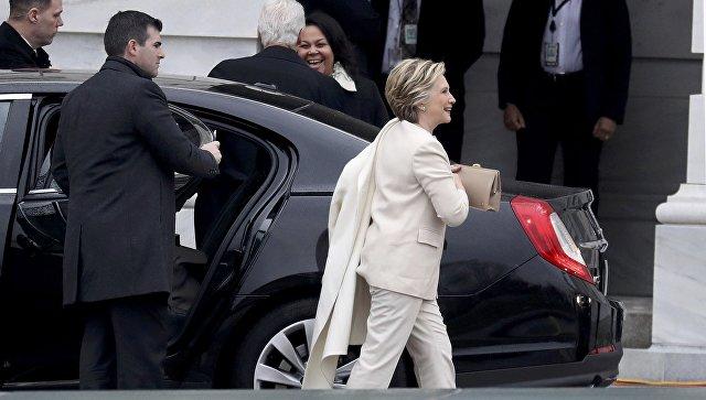 Билл иХиллари Клинтон прибыли нацеремонию инаугурации Трампа