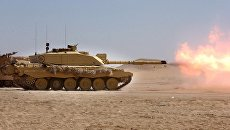 Танк Challenger 2 Британских Вооруженных сил. Архивное фото