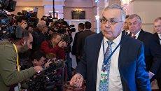 Директор Ближневосточного департамента МИД России Сергей Вершинин перед началом встречи по Сирии в Астане. 23 января 2017