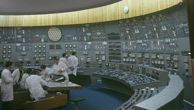 Блочный щит управления Кольской атомной электростанцией. Архивное фото