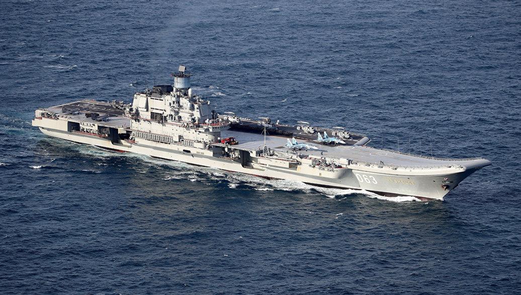 Российский авианосец Адмирал Кузнецов. Архивное фото