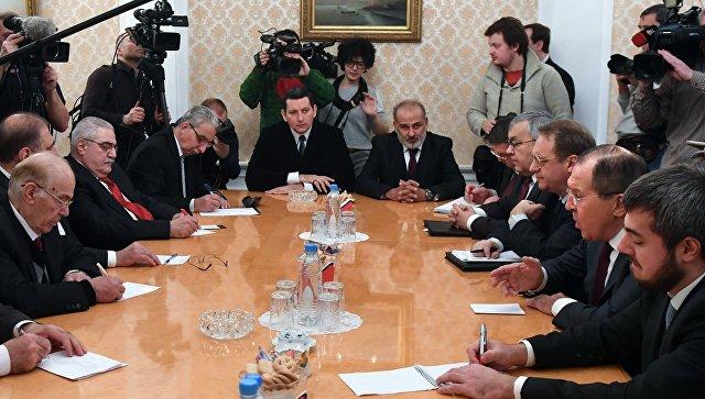 Встреча главы МИД РФ Сергея Лаврова с представителями сирийской оппозиции. Архивное фото