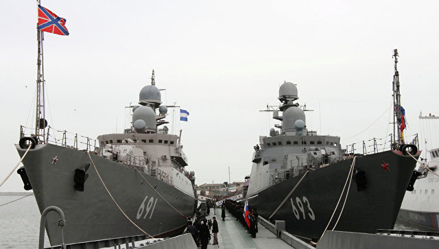 Система корабельной ПВО Каспийской флотилии отразила удары воздушного «противника»