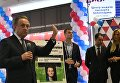 Заместитель председателя правительства РФ Виталий Мутко во время церемонии выдачи первых паспортов болельщиков Кубка конфедераций FIFA 2017