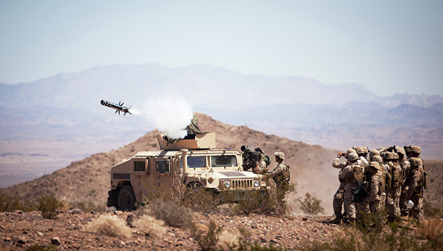 Противотанкокая ракетная система Javelin. Архивное фото