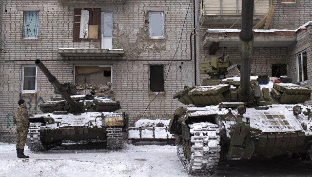 Танки ВСУ в Авдеевке, Украина
