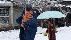 Снег в Афганистане. Архивное фото