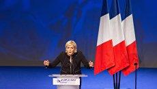 Предвыборная кампания кандидата на пост президента Франции Марин Ле Пен. Архивное фото