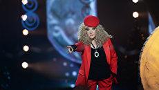 Певица Алла Пугачева на съемках новогодней программы на Первом канале