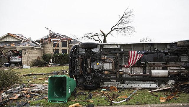 НаюгЛуизианы обрушилась серия торнадо