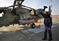 """Предполетная подготовка вертолета Ка-52 """"Аллигатор"""" перед началом учебно-тренировочных полетов"""