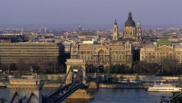 Вид на город Будапешт.  Венгрия Архивное фото