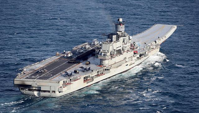 Российский тяжёлый авианесущий крейсер Адмирал Кузнецов. Архивное фото
