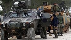 Турецкие военные в районе города Эль-Баб в Сирии. 4 февраля 2017