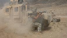 Американский военный во время столкновения с талибами в Афганистане. Архивное фото