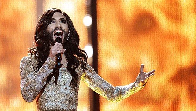 Кончита Вурст на международном конкурсе песни Евровидения-2014, архивное фото
