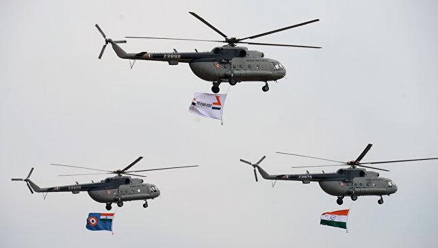 Вертолеты Ми-17 V5 ВВС Индии. Архивное фото