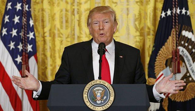 Президент США Дональд Трамп. 16 февраля 2017 год