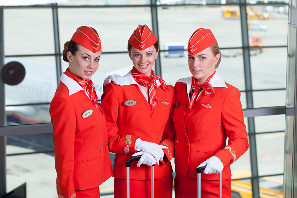 Бортпроводница авиакомпании Аэрофлот