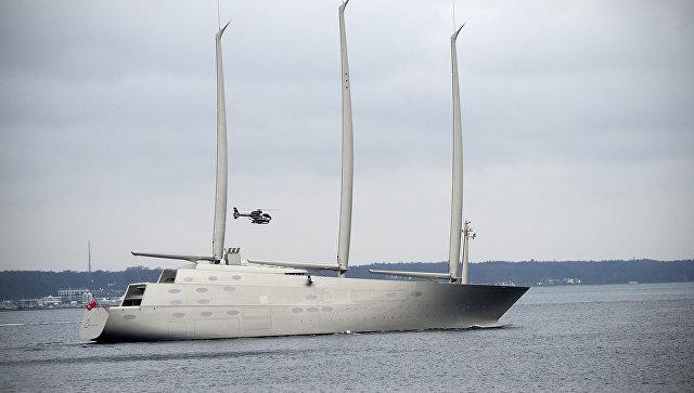 Парусная яхта Sailing Yacht A, которая принадлежит российскому бизнесмену Андрею Мельниченко. Архивное фото
