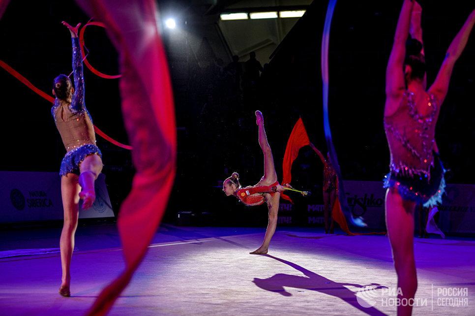 частники гала-концерта Гран-при Москвы по художественной гимнастике