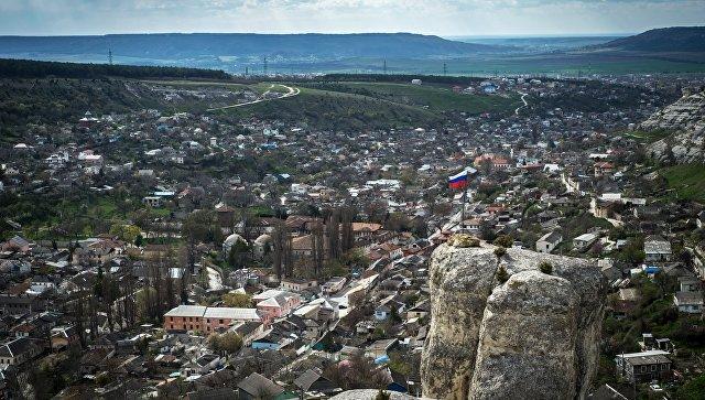 Вид на город Бахчисарай. Архивное фото