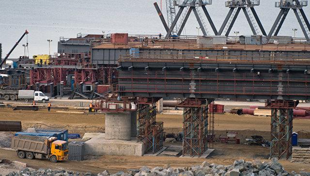 ВКрыму началось сооружение автомобильных подходов кКерченскому мосту