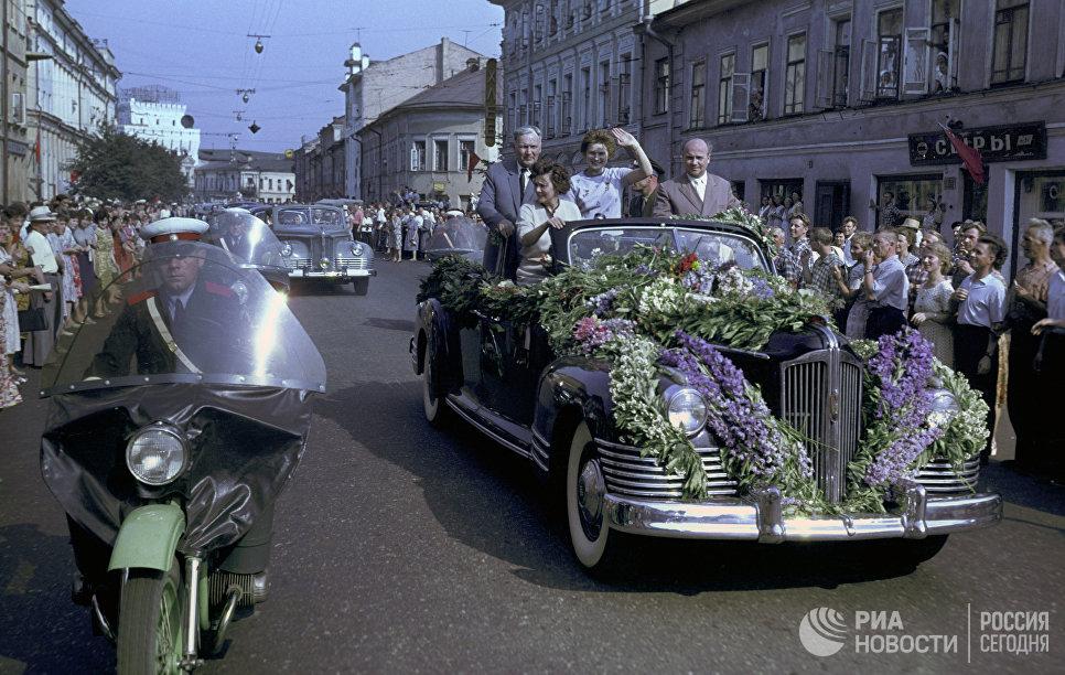 Встреча летчика-космонавта СССР Валентины Владимировны Терешковой в Ярославле