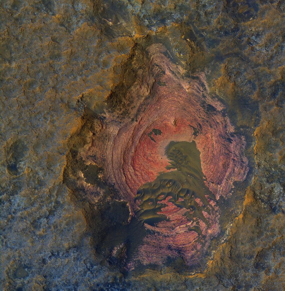 Снимок коренных пород Марса