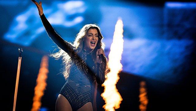 Ивета Макучян (Армения) во время генеральной репетиции первого полуфинала 61-го международного конкурса песни Евровидение - 2016 в Стокгольме