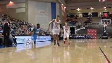 Скриншот видео с матча американской баскетбольной Д-Лиги Дэлавер - Рэпторс 905