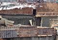 Строящийся тоннель обрушился на Калужском шоссе в Новой Москве. Съемка МЧС