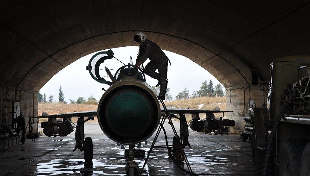 """Военный источник САР: сирийский МиГ-21 сбили американским """"Стингером"""" - РИА Новости, 15.03.2016"""
