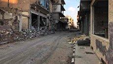 Разрушенные в результате боевых действий дома в жилой части города Пальмира. Архивное фото