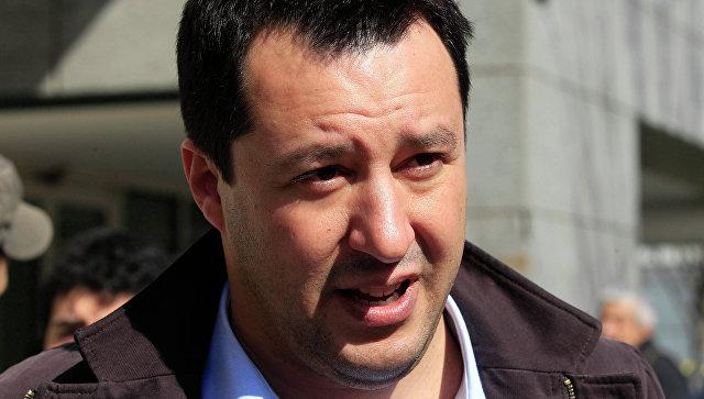 Национальный секретарь итальянской партии Лига Севера, депутат Европарламента Маттео Сальвини. Архивное фото