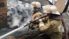 Ликвидация пожара. Архивное фото