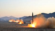 Запуск баллистических ракет КНДР