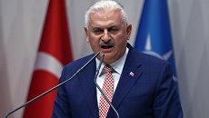 Бинали Йылдырым на съезде правящий партии Турции, 22 мая 2016
