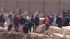 Археологи нашли в Каире 8-метровую статую эпохи Рамзеса Великого