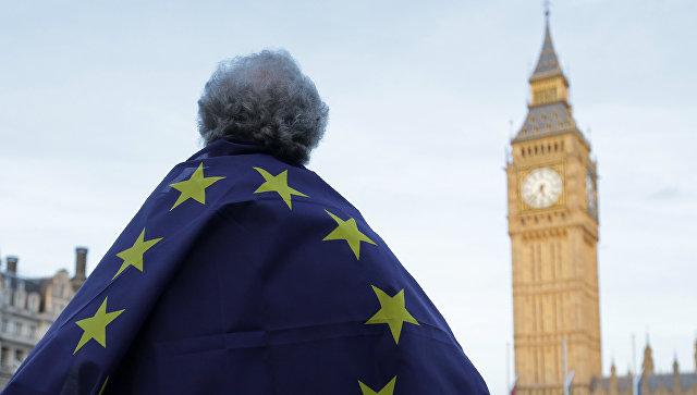 Акция протеста у здания Парламента в Лондоне, Великобритания. Архивное фото