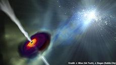 Так художник представил себе рождение черной дыры в ранней Вселенной