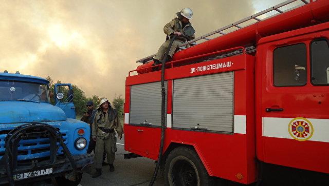 Пожар в Херсонской области Украины. Архивное фото