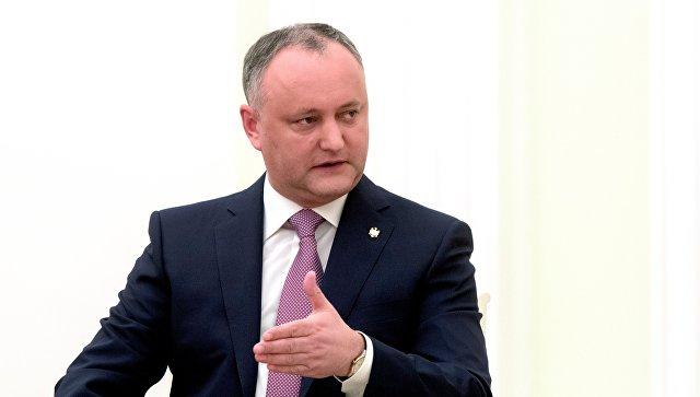 Президент Республики Молдавия Игорь Додон. Архивное фото
