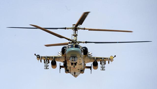 Российский вертолет Ка-52 в Сирии. Архивное фото
