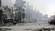 Последствия столкновений сирийской армии с боевиками в районе Джобар на востоке Дамаска. 20 марта 2017. Архивное фото
