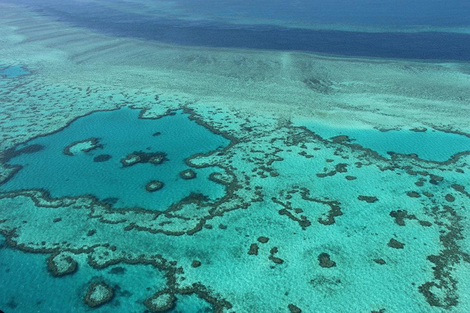 Вид с воздуха на Большой Барьерный риф