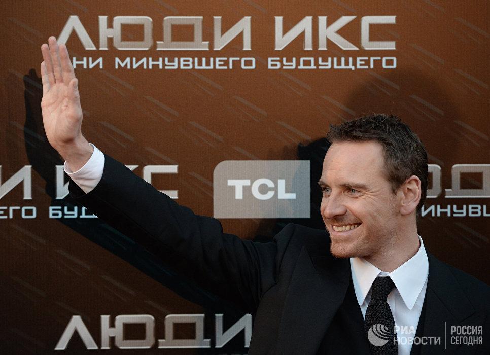 Актер Майкл Фассбендер на премьере фильма Люди икс: дни минувшего будущего в кинотеатре Пушкинский в Москве