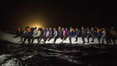 Мигранты покидают территорию Ливии. Архивное фото