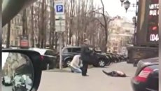 Кадры с места убийства Вороненкова В Киеве